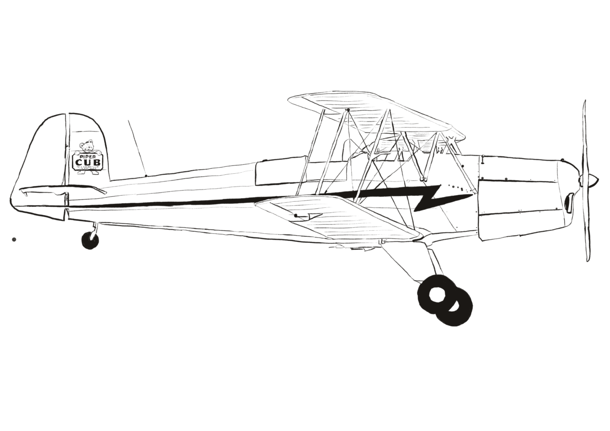 Sehr seltene Piper Jungmann 131 Special Cub